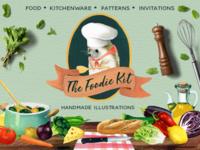 The Foodie Kit - Food Illustrations