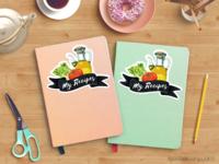 FREE Food Illustrations + Mini Tutorial