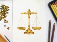 Libra - Astrology Illustration