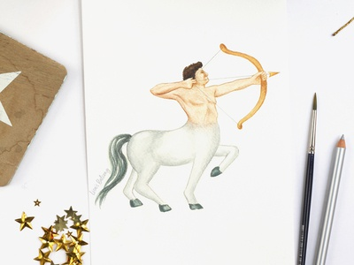 Sagittarius - Astrology Illustration