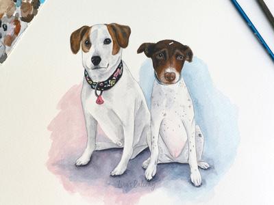 Watercolor Doggies 1