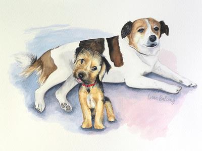 Watercolor Doggies 2
