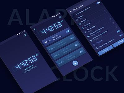 Alarm Clock UI ios andoid ui night clock alarm