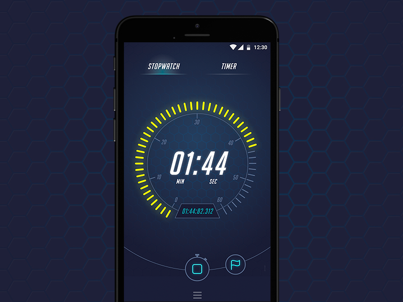 Timer секундомер watch таймер ios android ux ui stopwatch timer