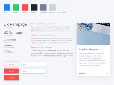 Simple UI-kit for Web typography kit ui design web simple ux kit ui