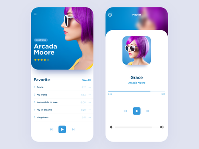Audioplayer for iOS adobe xd uidesign ui  ux design player ui audio player ios