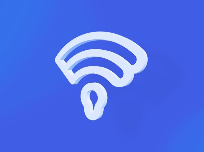 B + Wi-Fi + Door Locker logo mark