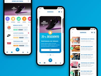 App concept - Free WiFI + Discounts