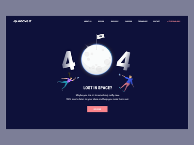 Moove It - Lost in space? - 404 Page