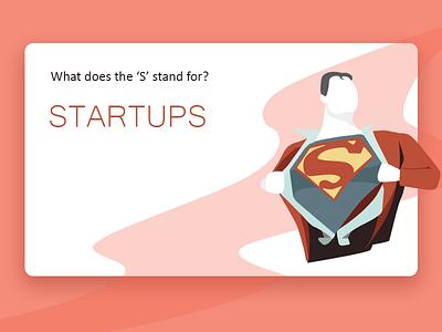 Startupman retro clean website app design ui vector startupman superman startup illustration