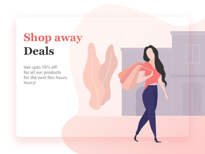 Shopping character clean ui design website landing page flat  design woman shoping illustration