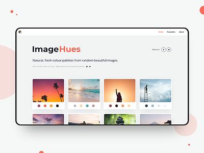 ImageHues.com clean design web ui ux minimal colorscheme colorinspiration modern website designtool inspiration colorpalette colors imagehues