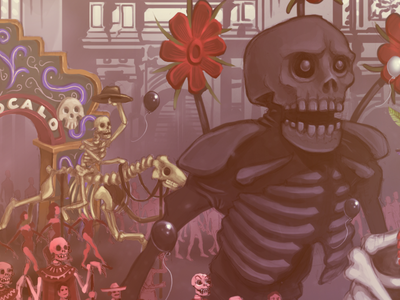 Day of the Dead illustration skeleton mexico