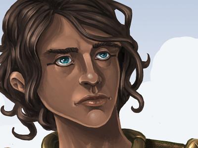 Harkhuf face portrait illustration