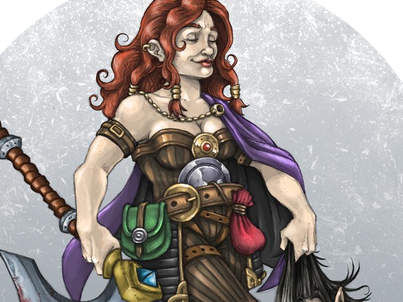 Dwarf photoshop art illustration