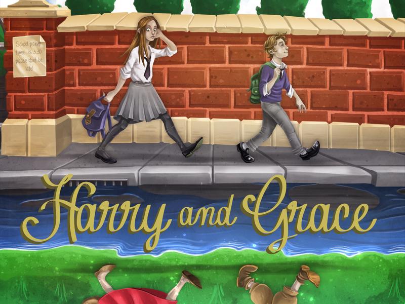 Harry And Grace photoshop art illustration