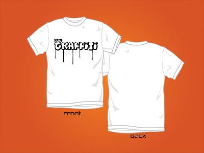 Ilovegraffiti t-shirt graffiti love design dripping