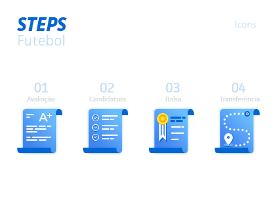 Icons Steps steps blueicons scholarships design universitysport next eua sports icons