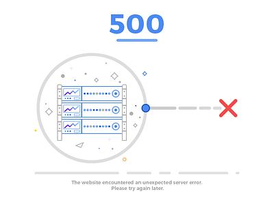 Web Error 500 server error photoshop ps ui illustration error page error 500 error