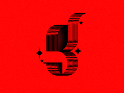 G. red lines gletter letterg digital graphic ilustration adobe font type 36daysoftype