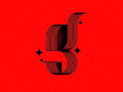 G. red lines gletter letterg digital graphic ilustration adobe font type 36daysoftype