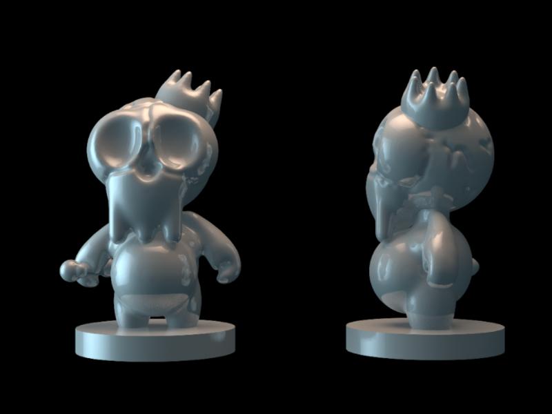 Skull 3D toy concept printer3d 3dtoy modeling sculpt