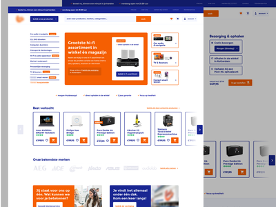 Dutch Electronic Store Redesign Interface concept colorcontrast design ui ux