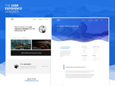 New Portfolio Online! interface user experience blue webdesign ux ui portfolio