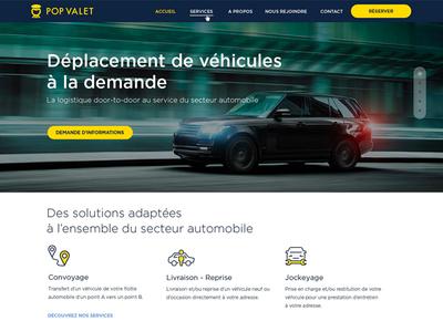 Popvalet Website Homepage cars services interface design site web design web webdesign homepage responsive website