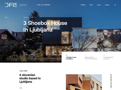 Ofis Arhitekti interface design site web design web webdesign homepage responsive website