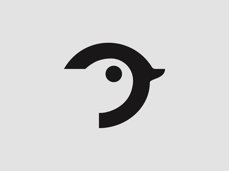 Sparrow bird logo icon black and white bird sparrow minimalist design logo