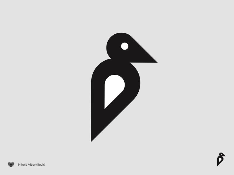 Bird mark bird icon symbol black and white design logo minimalist bird logo bird