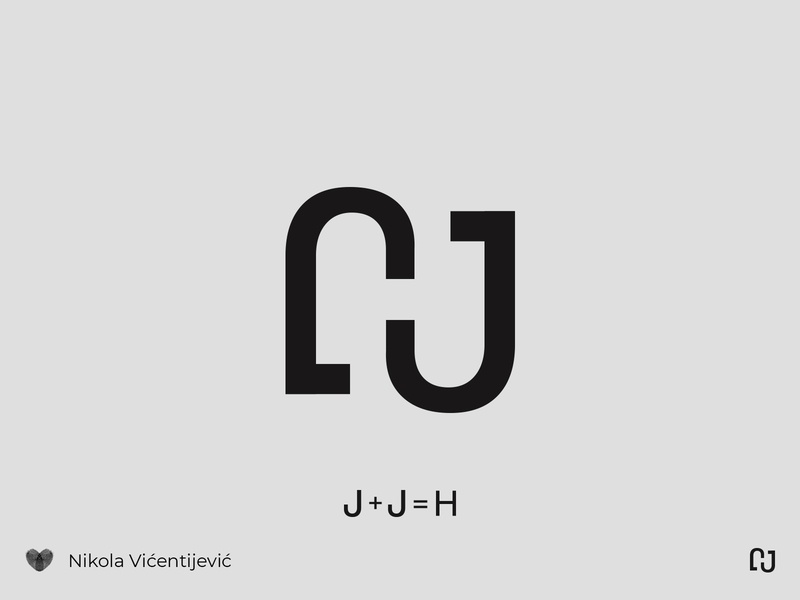JH ligature beauty logo negativespace negative space symbol icon branding minimalist design logo h logo j logo