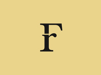 F&r serif ligature baskerville typography calligraphy logo design