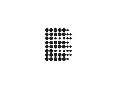 EB Logo e b minimal illusion circle illustration vector lettering black and white typography logo branding design