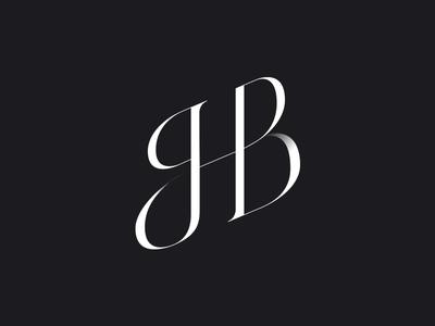 Wedding monogram typogaphy cyrillic ligature lettering calligraphy typography black and white design