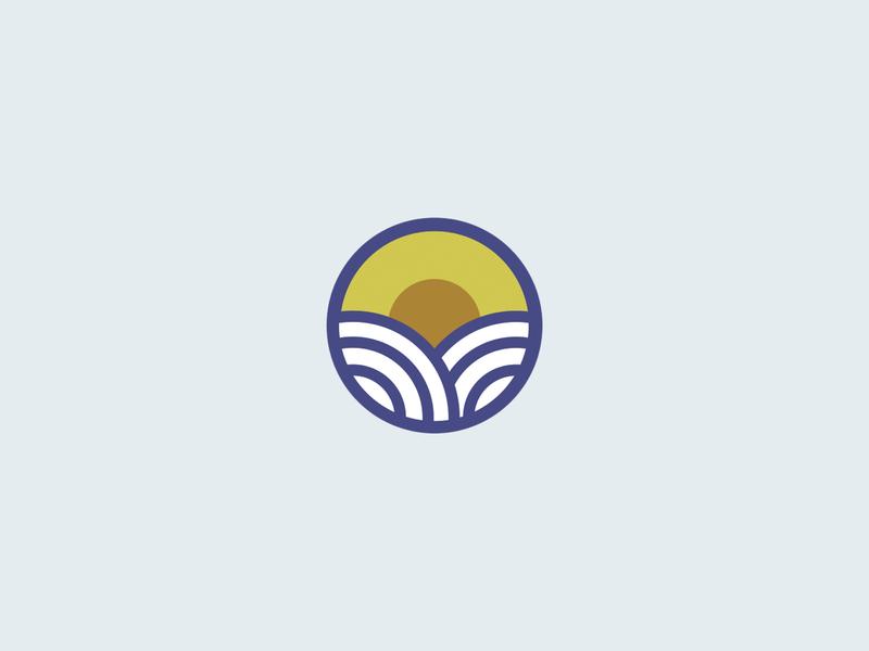 Sunny day symbol icon ux ui illustration minimalist circle vector branding logo design