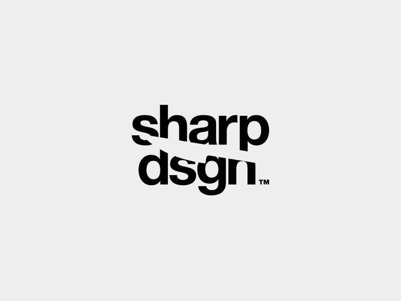 Sharp design blade sharp knife symbol minimalist branding vector icon typography black and white logo design
