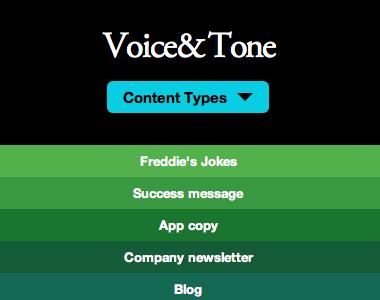 Responsive Enhancement on Voice & Tone responsive mailchimp rainbow