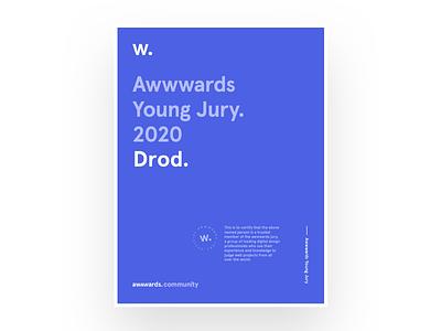 Awwwards Young Jury 2020 app design jury ui design web design designers certificate awwwards
