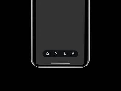Floating Bottom Navigation light dark minimal clean prototype concept ux ui iphone ios ui design tabbar navigation mobile