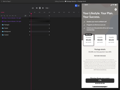 Concept - Pricing Screen Scroll ui animation interaction header scroll mobile app prototype wip invisionstudio invision price plan pricing