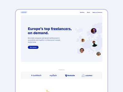 Landing Page - Startup Concept illustration website uidesign typography freelance startup header minimalist clean landingpage web design