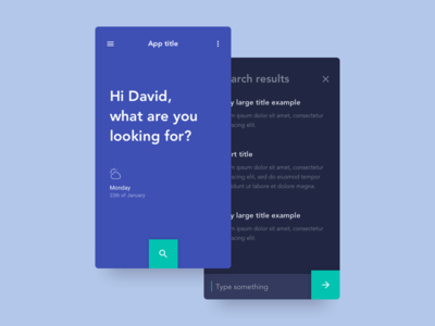 Daily UI #022 - Search challenge app mobile dark minimal colorful 022 dailyui search