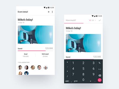 Daily UI #053 - Header Navigation android moneybox concept financial 53 navigation header dailyui
