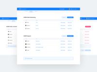 Dashboard - Accounts section