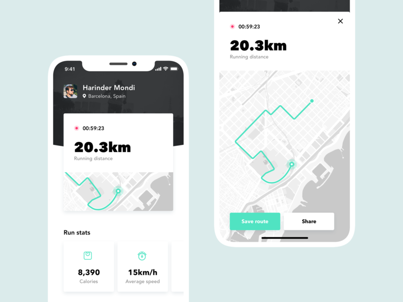 Daily UI #062 - Workout of the day