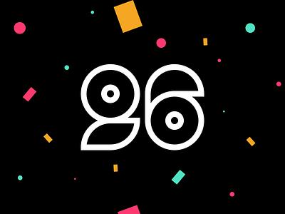 I'm 26! 🎂 dribbble design bday typography numbers 26 confetti celebration birthday