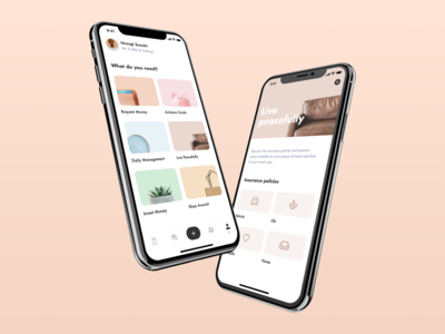 Fintech - Profile Concept banking balance uidesign minimal payment service product mobile uiux grid card detail finance profile fintech