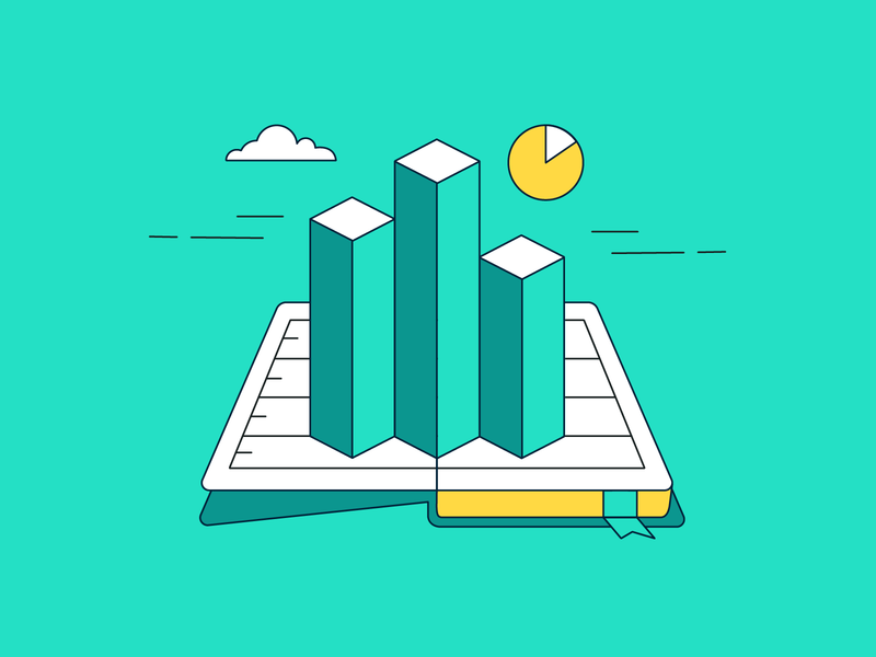 Storytelling with Data illustration art isometric illustration isometric layout illustration design graphs charts open book book flat illustration vector vector illustration illustration